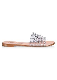 Giuseppe Zanotti Crystal-Embellished PVC Slides