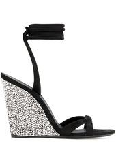 Giuseppe Zanotti crystal embellished wedge sandals