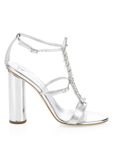Giuseppe Zanotti Crystal Fish Skeleton Open Toe Heels