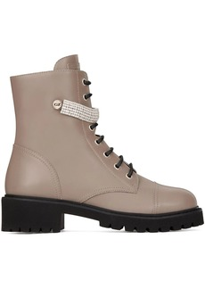 Giuseppe Zanotti crystal-strap hiking boots