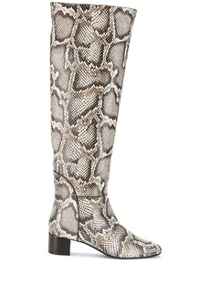 Giuseppe Zanotti Doreen snakeskin effect boots