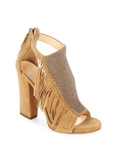 Giuseppe Zanotti Embellished Suede Fringe Sandals