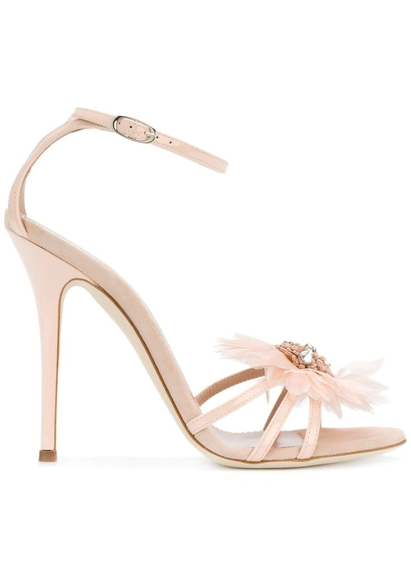 Giuseppe Zanotti feather applique sandals
