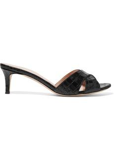 Giuseppe Zanotti Felicia Croc-effect Leather Mules