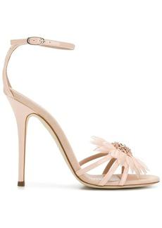 Giuseppe Zanotti floral embellishment stiletto sandals