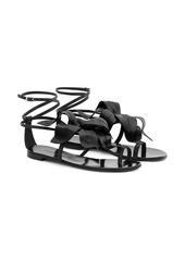 Giuseppe Zanotti flower appliqué flat sandals