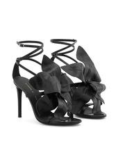 Giuseppe Zanotti flower appliqué leather sandals