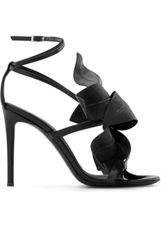 Giuseppe Zanotti flower appliqué leather sandals