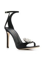 Giuseppe Zanotti flower brooch 110mm sandals