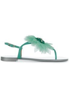 Giuseppe Zanotti flower petal sandals