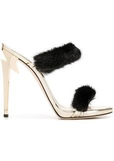Giuseppe Zanotti fur trimmed high sandals
