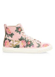 Giuseppe Zanotti Giuseppe x Swae Lee Floral Blabber High-Top Sneaker