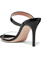 4949b0a84b8d7 ... Giuseppe Zanotti Ali 90 patent-leather and Perspex sandals ...