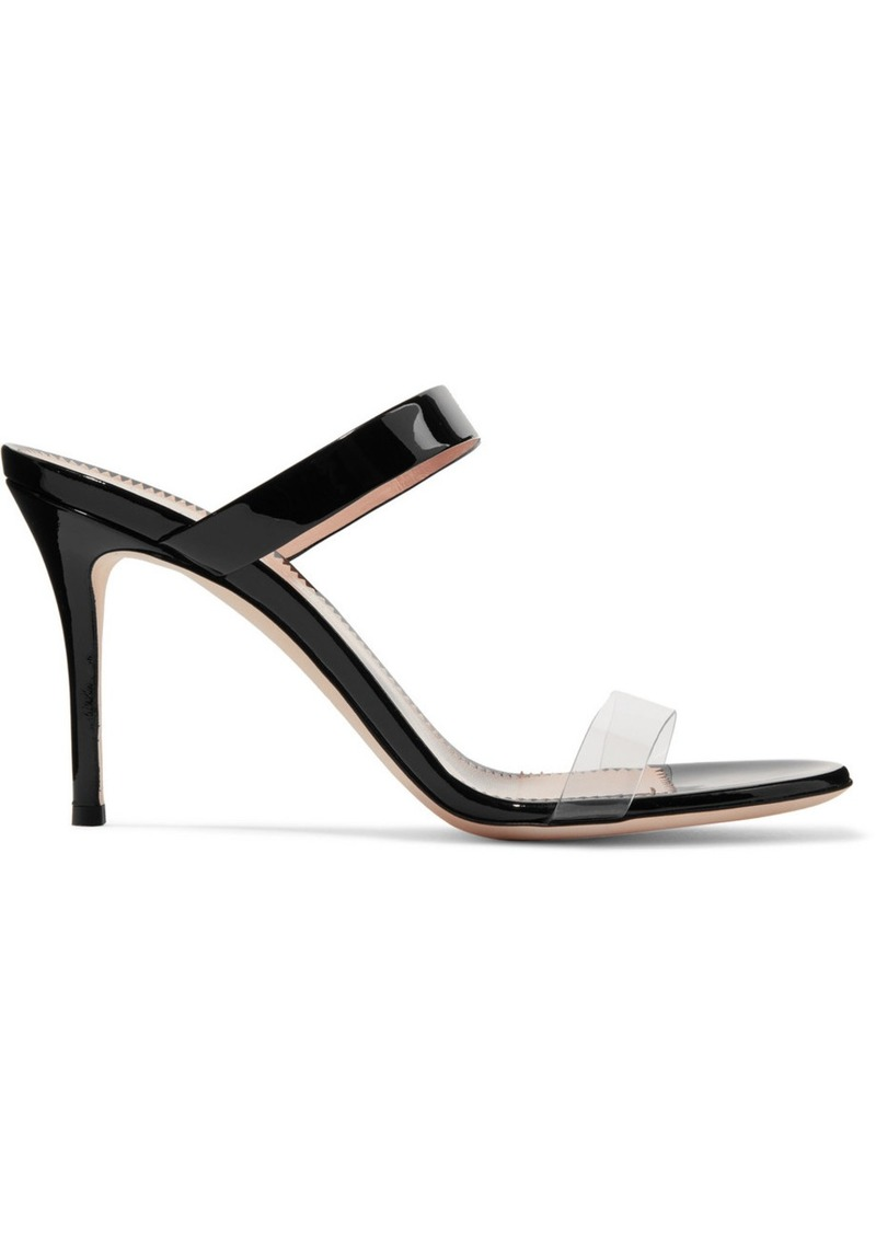 877dcd5f2 Giuseppe Zanotti Ali 90 patent-leather and Perspex sandals