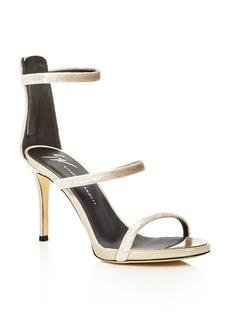 Giuseppe Zanotti Alien Velvet High Heel Sandals