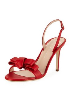 Giuseppe Zanotti Bow Leather Strappy Sandals
