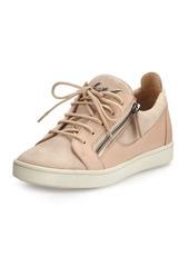 Giuseppe Zanotti Breck Suede Side-Zip Sneaker