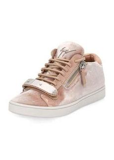 Giuseppe Zanotti Brek Velvet Side-Zip Sneaker