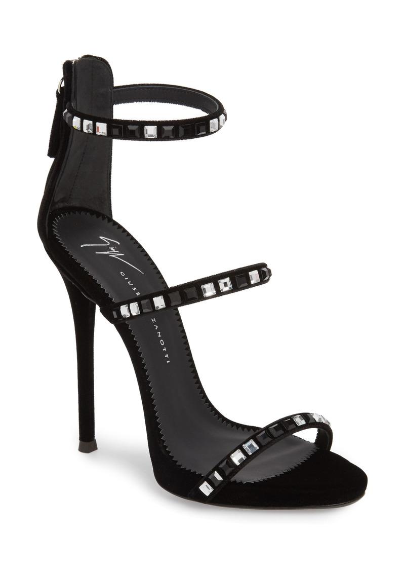 11d06e8ee8a83 Giuseppe Zanotti Giuseppe Zanotti Coline Crystal Embellished Sandal ...