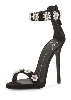 Giuseppe Zanotti Coline Floral-Crystal 110mm Sandal