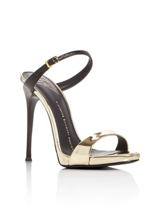 Giuseppe Zanotti Coline Metallic Double Strap Slide Sandals