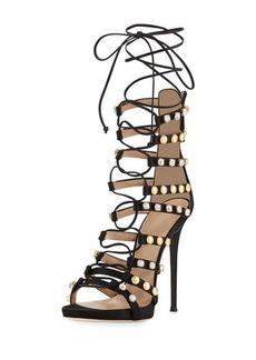 Giuseppe Zanotti Coline Strappy Lace-Up 110mm Sandal