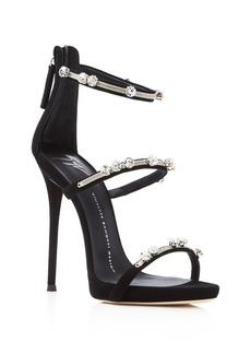 Giuseppe Zanotti Coline Triple Strap High Heel Sandals