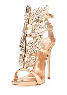 Giuseppe Zanotti Coline Wings Leather 110mm Sandals