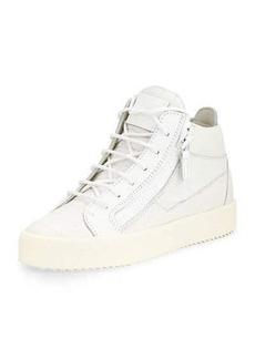 Giuseppe Zanotti Croc-Embossed Low-Top Sneaker