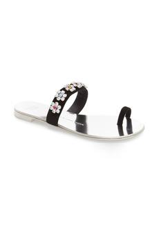 Giuseppe Zanotti Crystal Embellished Flat Sandal (Women)