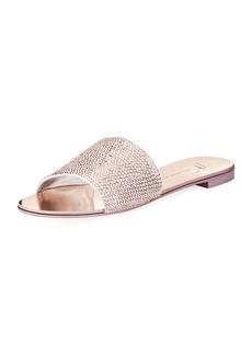 Giuseppe Zanotti Crystal-Embellished Flat Slide Sandal