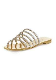 Giuseppe Zanotti Crystal-Embellished Multi-Strap Slide Sandal