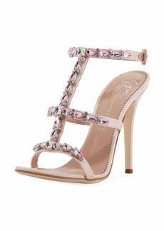 Giuseppe Zanotti Crystal-Embellished T-Strap Sandal