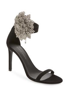 Giuseppe Zanotti Crystal Flower Ankle Strap Sandal (Women)
