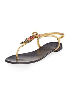 Giuseppe Zanotti Crystal Toucan Thong Sandal