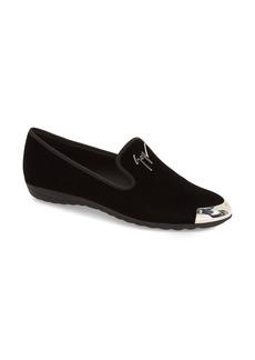 Giuseppe Zanotti 'Dalila' Metallic Toe Velour Loafer (Women) (Nordstrom Exclusive)