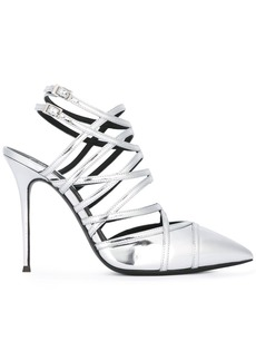 Giuseppe Zanotti Design caged stiletto sandals - Metallic