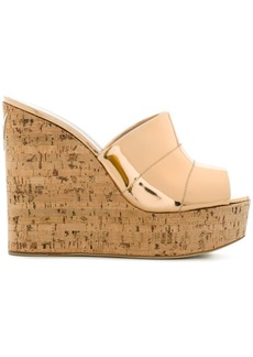 Giuseppe Zanotti Design cork wedged sandals - Metallic