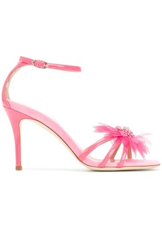 Giuseppe Zanotti Design feather applique sandals - Pink & Purple