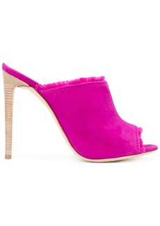 Giuseppe Zanotti Design frayed stiletto mules - Pink & Purple