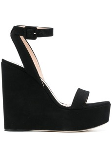 Giuseppe Zanotti Design platform wedge sandals - Black