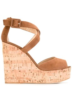 Giuseppe Zanotti Design platform wedge sandals - Brown