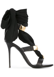 Giuseppe Zanotti Design ribbon stiletto sandals - Black