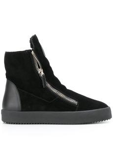 Giuseppe Zanotti shearling lined hi-top sneakers