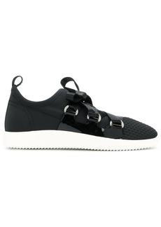 Giuseppe Zanotti Design slip-on ribbon tie sneakers - Black