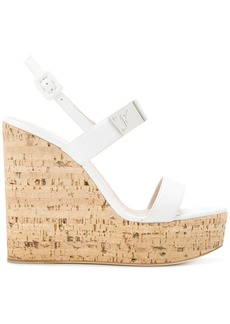Giuseppe Zanotti Design wedge platform sandals - White