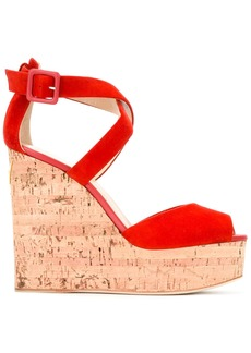 Giuseppe Zanotti Design wedge sandals - Red