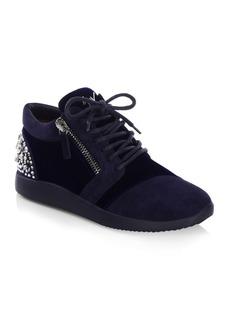 Giuseppe Zanotti Emb Counter Zip Profundo Sneakers