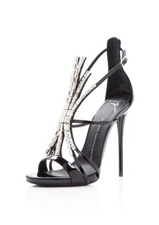 Giuseppe Zanotti Embellished Alien High Heel Sandals