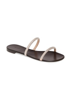 Giuseppe Zanotti Embellished Double Band Slide Sandal (Women)